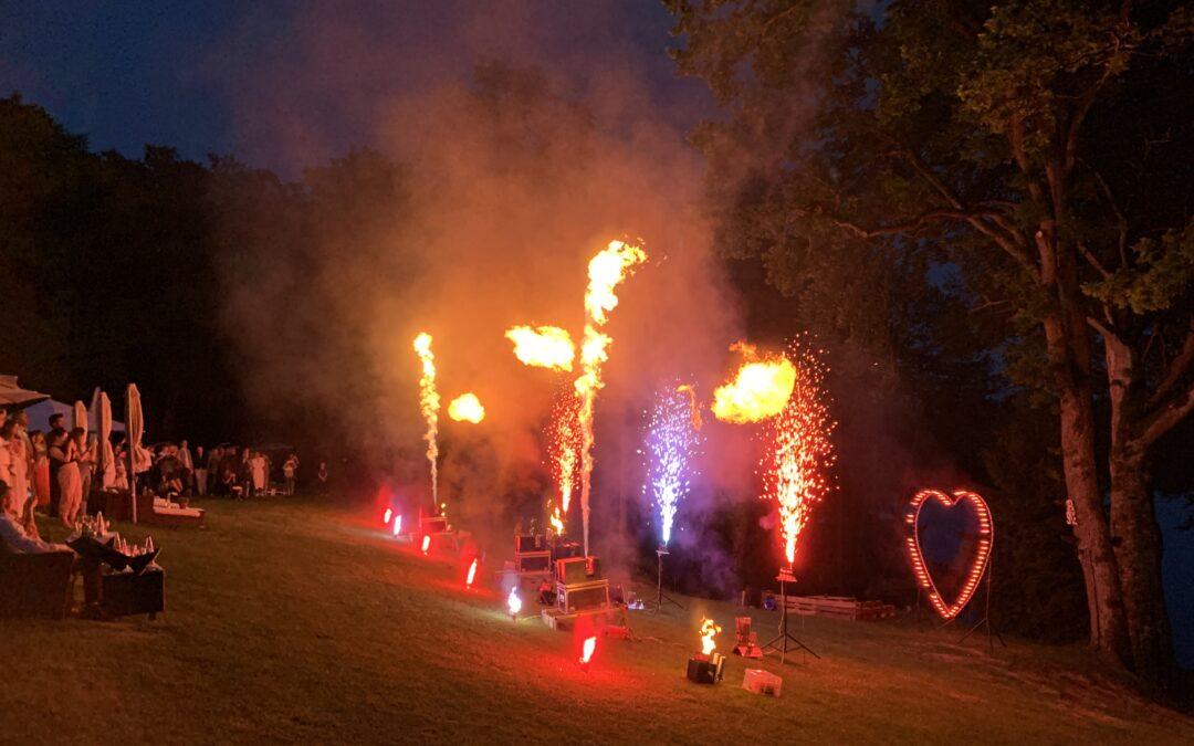 Flammenshow Hochzeit Steinsee 08.06.2019